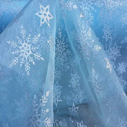 Herren Unterhose Frozen Disney Gardine Elsa silberfarbener Glitzer Strass Tasche Hülle Etui mit Schneeflocken aus Chenille von Craft Organzaband Umhang Stoff Damen Kleid Tanz Wohnzimmer Schlagworte Musikstil 149,86 cm - 150 cm Breite