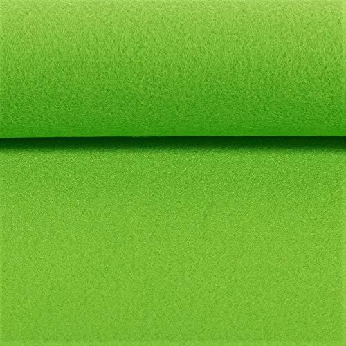 Hochwertiger Bastel-Filz 5 mm stark 670g/qm- Taschenfilz - 45 cm breit Meterware (Hellgrün)