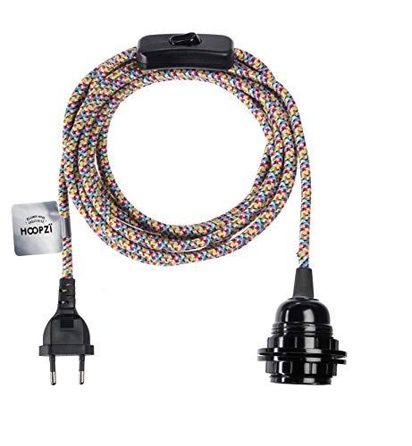 Stoff- und Textilkabel: Lampenkabel mit Fassung und Stecker