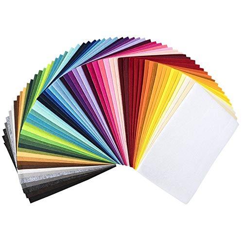 Ideen mit Herz Filz, 2mm stark, DIN A4, 15 Bogen | DIY, Patchwork, Handwerk, Filzstoff, Bastelfilz (15 Farben)