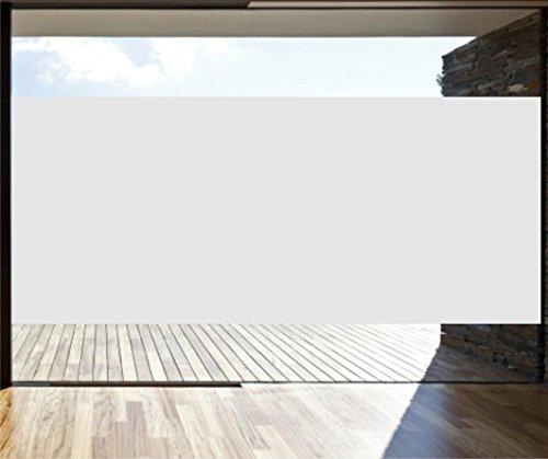 INDIGOS UG Oracal 8510 - Glasdekorfolie - Fensterschutzfolie - Sonnenschutzfolie - Sichtschutzfolie - 126 cm Höhe Silber matt - Meterware