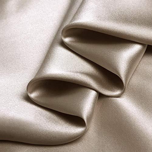 Kamel Farbe 100% Reine Seide Charmeuse Stoff Krepp Satin Stoffe für Näharbeiten Breite 114 cm