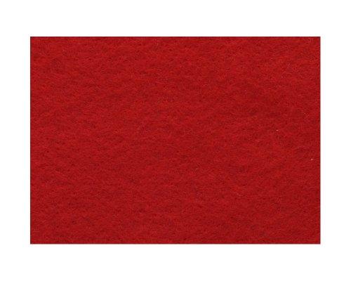Knorr Prandell 2506120 - Wollvlies Merinowolle 190x 14 cm, im Beutel, rot