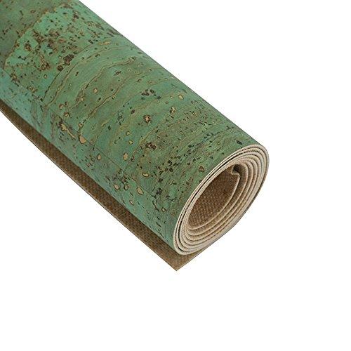 Kork, Korkstoff, Korkleder - natürlicher Rohstoff zum Nähen - viele Farben ca. 60 x 140 cm (grün)