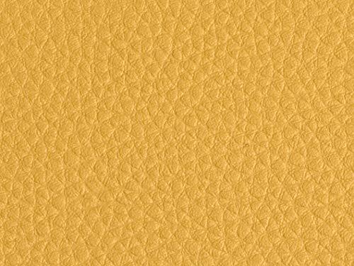 Kunstleder Leder Meterware Polsterstoff Stoff 140cm Bezugsstoff gelb/eigelb