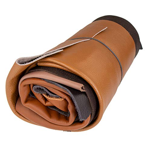 Langlauf Schuhbedarf ® Lederstücke extragroß 1kg brauntöne - alle Stücke Mind. DIN A3 groß - jetzt mit Gratis Anleitung Babypuschen