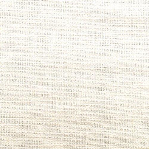 Leinen Naturell - 100% pures Leinen - körnige Leinenstruktur- weicher Fall - vorgewaschen - Stoff, Meterware (creme-weiß)