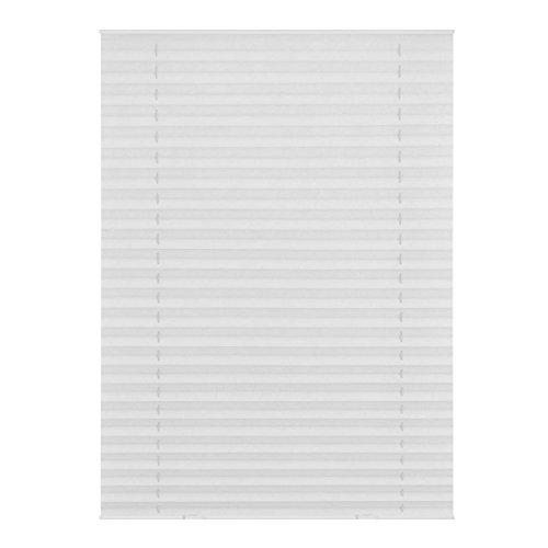 Lichtblick Dachfenster-Plissee Haftfix, 59,3 x 100 cm (B x L) in Weiß, Sicht- & Sonnenschutz-Rollo ohne Bohren, Jalousie mit Saugnäpfen, für (Dachflächen-) Fenster, Velux-kompatibel (M06/MK06)