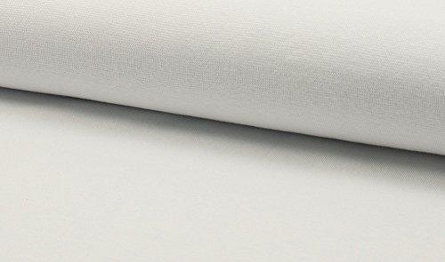 Lilakind Bündchen Stoff Uni 50 cm Weiß