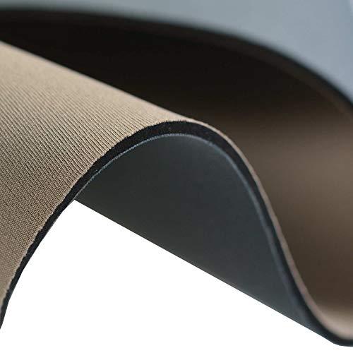 maDDma 0,5m Neopren-Imitat Stoff Doubleface Stretch 130cm breit Meterware Farbwahl, Farbe:Cappuccino-grau