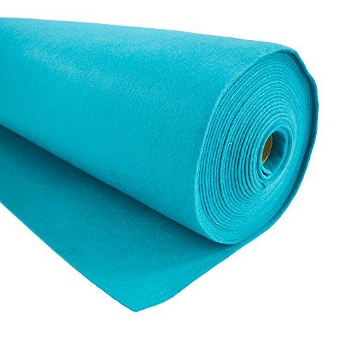 maDDma Bastelfilz 1m Meterware Filz 90cm x 1,5mm Dekofilz Taschenfilz Filzstoff 26 Farben, Farbe:türkis