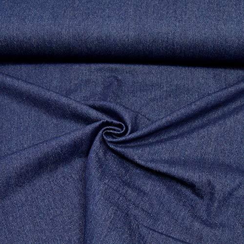 MAGAM-Stoffe ''Detroit'' in 5 Farben   Jeans-Stoff   100% Baumwolle Öko-TEX Qualität   Meterware ab 50cm   QX-9-6 (04. Navy-Blau)