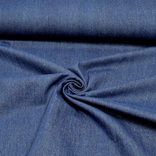 MAGAM-Stoffe ''Detroit'' in 5 Farben | Jeans-Stoff | 100% Baumwolle Öko-TEX Qualität | Meterware ab 50cm | QX-9-6 (03. Jeans-Blau-Dunkel)