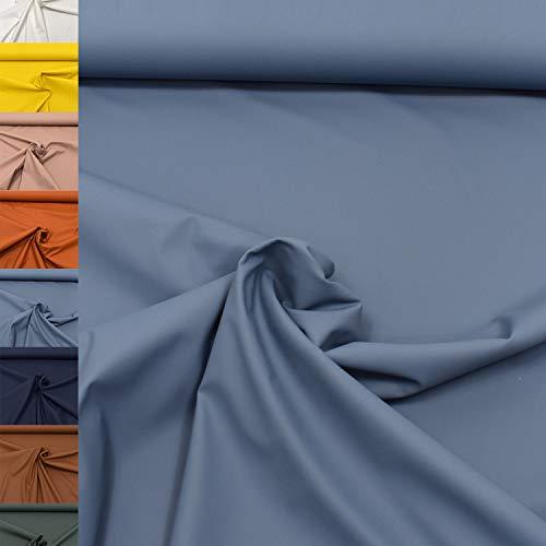 MAGAM-Stoffe Regen Regenbekleidung-Stoff Uni Meterware 50cm (05. Petrol-Rauchblau)