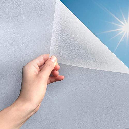 MARAPON ® Fensterfolie selbsthaftend Blickdicht [60x200 cm] inkl. eBook mit Profitipps - Sichtschutzfolie Anti-UV mit statischer Haftung - Milchglasfolie