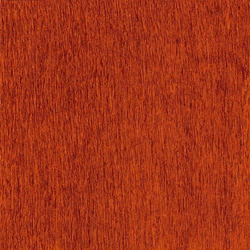 McAlister Textilien Plain Chenille Stoff Baumwolle in Terracotta Orange als Meterware Deko Textil Material Per halber Meter für Vorhänge, Bezüge, Decken, Polster