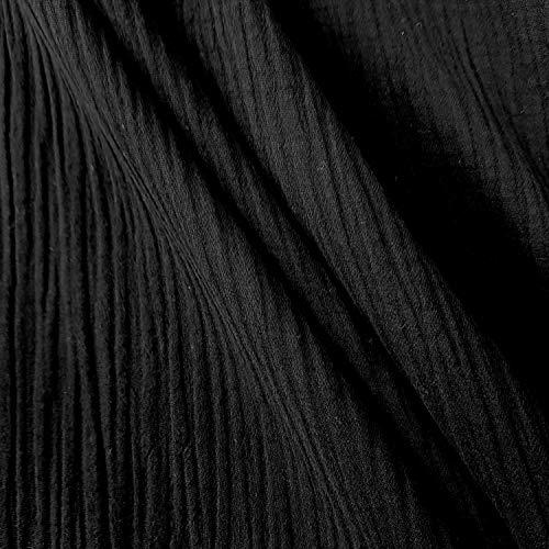 Meterware Stoff Baumwolle Musselin schwarz Uni Mulltuch Kleiderstoff Double Gauze Windeltuch Spucktuch Meterpreis