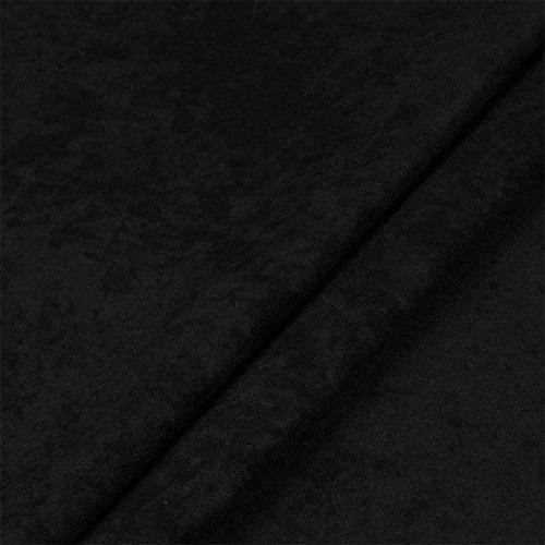Microfaser, Verlours, Möbelstoff, Polsterstoff, Dekostoff, Uni, Meterware - Schwarz