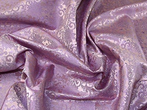 Minerva Crafts Brokatstoff mit könglichem Muster, gewebt, Lila, Meterware