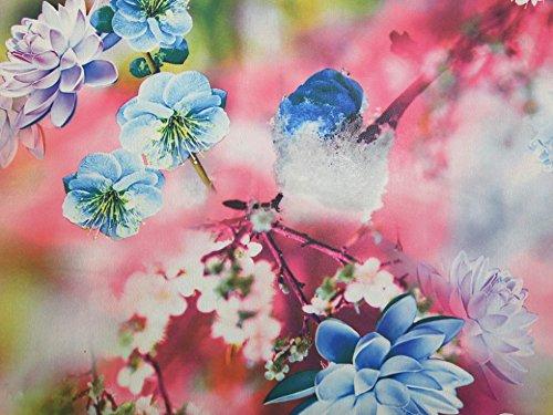 Minerva Crafts Georgette-Kleiderstoff, Blumenmuster, Digitaldruck, Pink, Meterware