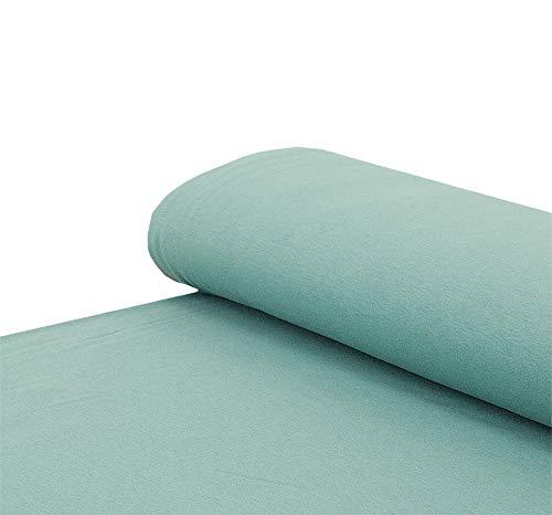 Nadeltraum Baumwoll -Sweat Stoff weich Alpenfleece einfarbig altgrün - Meterware ab 25 x 150 cm - Stoff zum Nähen