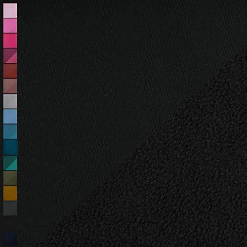 Nano Softshell von Swafing, wind- und wasserabweisend, uni schwarz (25cm x 140cm)