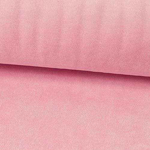 Nickistoff uni einfarbig rosa Kuschelstoff Kinderstoff - Preis gilt für 0,5 Meter