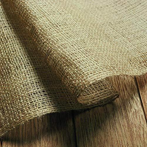 NOOR Jute-Zuschnitt Standard 1,8 x 6 m I Jute-Rolle zum Adventskalender selber basteln, als Deko-Material oder als Frostschutz für Pflanzen I Jute-Winterschutz für Topf- und Kübelpflanzen I Natur