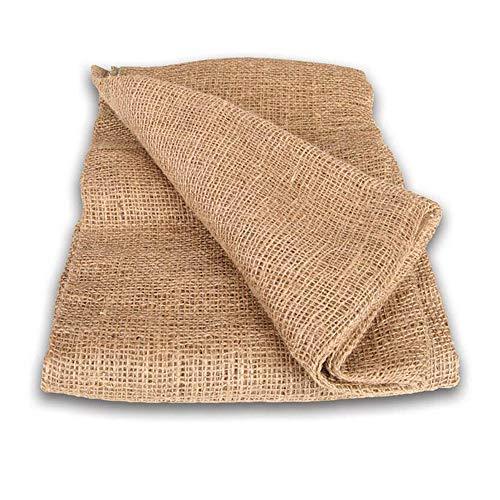 NOOR Premium Jute-Decke 1 x 3 m I Jute-Zuschnitt Natur zum Adventskalender selber basteln, als Deko-Material oder als Frostschutz für Pflanzen I Jute-Winterschutz für Topf- und Kübelpflanzen