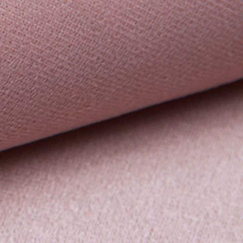 NOVELY® ARTENA Möbelstoff | Velours | samtig weich | Polsterstoff | Bezugsstoff | PFLEGELEICHT | ANSCHMIEGSAM (09 Rosa)