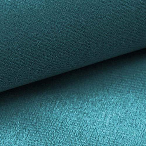 NOVELY® ARTENA Möbelstoff   Velours   samtig weich   Polsterstoff   Bezugsstoff   PFLEGELEICHT   ANSCHMIEGSAM (12 Türkis Petrol Blau)