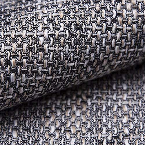 NOVELY® LANZ Premium Möbelstoff   Schwerer Webcharakter   grob gewebter Polsterstoff   Meterware   Struktur-Stoff   15 Farben (05 Grau)