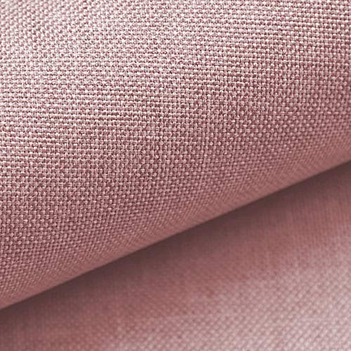 NOVELY® LUSO | 1 lfm | Feiner Stoff Polsterstoff Bezugsstoff Meterware Möbelstoff (28 Altrosa)