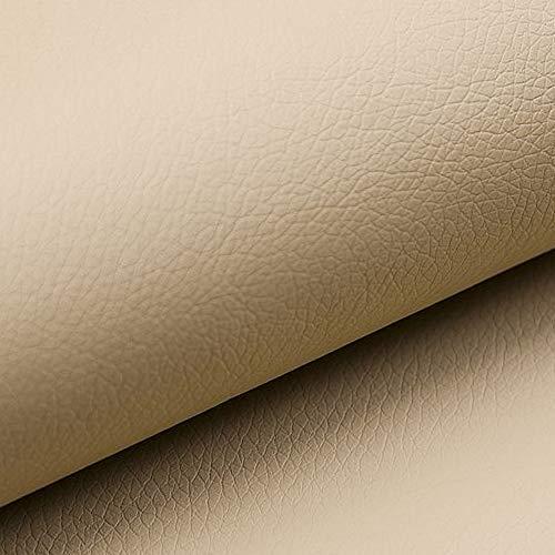 NOVELY® Soltau   1 lfm   weiches Kunstleder PU Premium Qualität Polsterstoff mehr als 100.000 Touren Echtleder-Optik Möbelstoff (01 Kamel Beige)