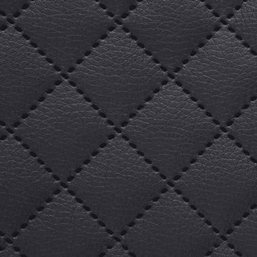 NOVELY® Soltau Kunstleder 3-LAGIG gesteppt kaschiert | gesteppter Volumen Polsterstoff | KARO Möbelstoff Premium | 1 lfm (32 Anthrazit)