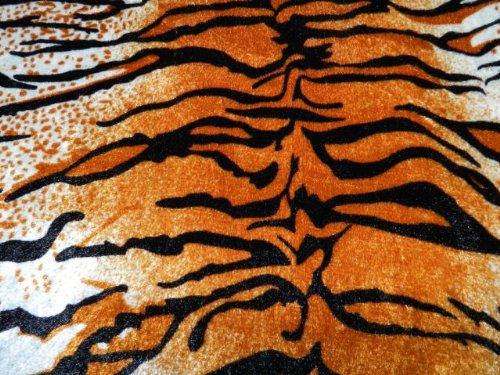 PANNESAMT Samt Stoff Tiger Fell Stoff Fellimitat Bedruckt