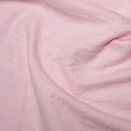Pink Woven Uni 100% gebürsteter Baumwolle wynciette Flanell Biber Stoff 110cms breit ca.–Meterware