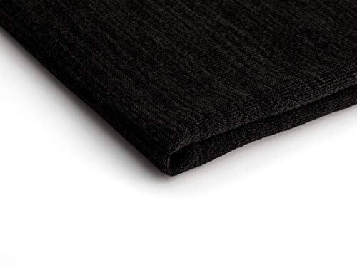 Pullover Stoffe Hacci Klassisch Strickstoff jersey 50 x 160 cm (Schwarz Nr.15)