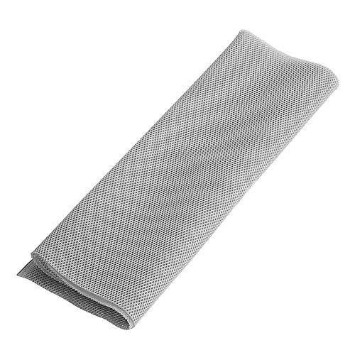 Richer-R Lautsprecher Bespannstoff, Hi-Fi Bespannstoff 1,4 m x 0,5m Staubdicht Lautsprecher Grill Reinigungstuch,Akustikstoff Stereo Lautsprecher Mesh Grill Tuch Braun/Schwarz/rau(Gray)