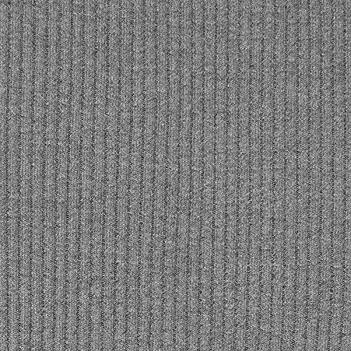 Rippenstrick Grob Schlauchware – grau — Meterware ab 0,5m — STANDARD 100 by OEKO-TEX® Produktklasse I — zum Nähen von Strickpullover und Umstandsmode
