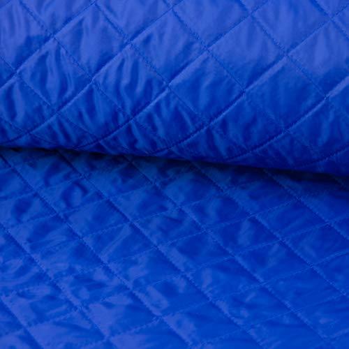 SCHÖNER LEBEN. Steppstoff Stoff Meterware einfarbig blau 1,4m Breite