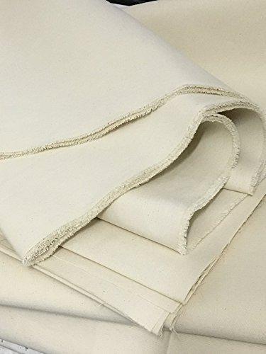 schweres Segeltuch 100% Baumwolle Natur-weiß 205 cm breit, Meterware Zeltstoff Zelt Stoff Tipi Mittelalter Sonnensegel (2,05m breit)