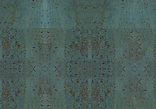 Simaru Kork/Korkstoff - Eine edle, vegane Leder Alternative - vielen Farben (türkis, 50 x 30 cm)