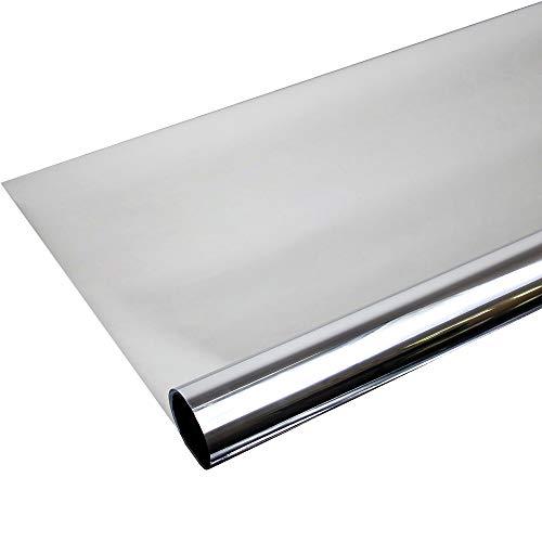 Solar Screen 6,57€/m² Fenster Folien Set Selbstklebende Spiegelfolie Silber 152cm Breite Folie Fensterfolie