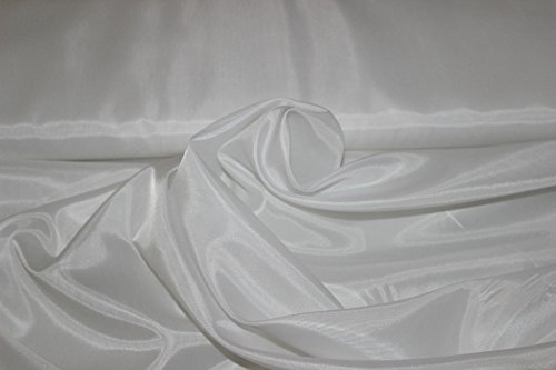 Stoff-Kollektion Meterware Futterstoff Taffeta TAFT (Weiß)