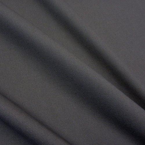 Stoff Meterware Baumwollstoff Panama Canvas anthrazit grau stabil