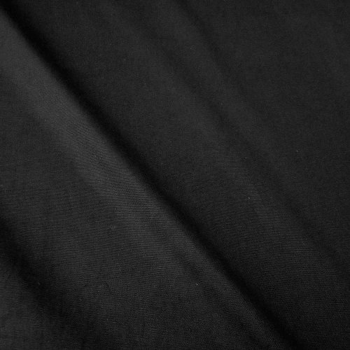 Stoff Meterware Baumwollstoff Panama Canvas schwarz stabil