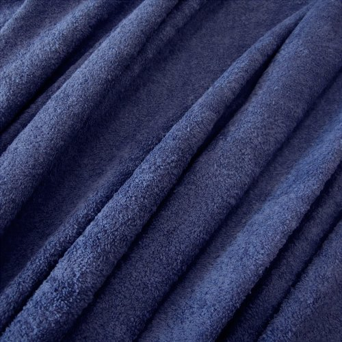 Stoff Meterware Frotté Frottee blau preussischblau reine Baumwolle weich