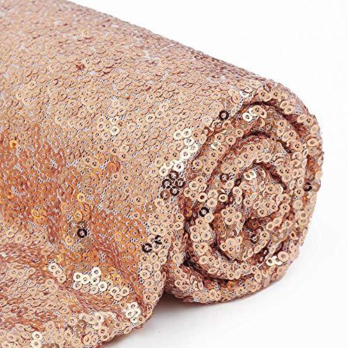 Stoff mit Pailletten, 4 Meter, Roségold, Pailletten-Stoff, rose gold, 4 yards