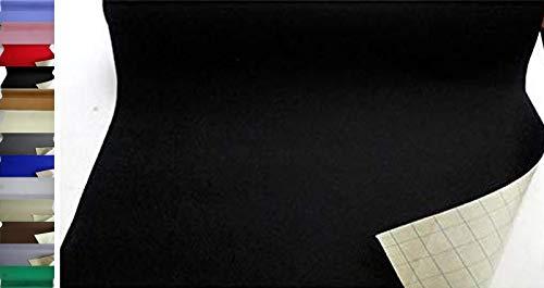 StoffBook EDEL BASTELFILZ FILZSTOFF SELBSTKLEBEND 100CM BREIT STOFF STOFFE, B853 (SCHWARZ)